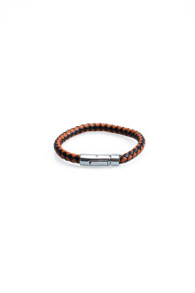 Brown Single Tour Faux Leather Bracelet