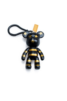 Gold USA Bear Keychain