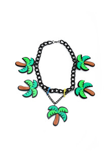Green Palm Chain Necklace