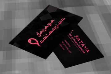 Pink Crystal in Black Business Card