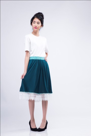 Lace Skirt Green image