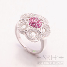 CC00147 Flower Pink Ring