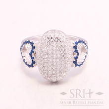 CC00165 The Gatsby Collection Blue Ring