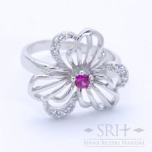 CC00187 Flower Red Ring