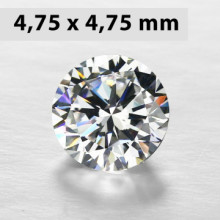 CZWC0027 Batu Cubic Zirconia Circle 5A White 4.75 x 4.75 mm