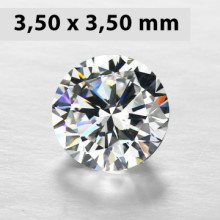 CZWC0033 Batu Cubic Zirconia Circle 5A White 3.50 x 3.50 mm