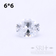 SQCZW0001 Batu Square Cubic Zirconia Circle 5A 6*6 x 6*6mm