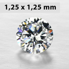 CZWC0036 Batu Cubic Zirconia Circle 5A White 1.25 x 1.25 mm