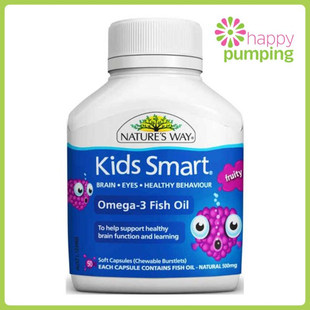 Nature 39 s way kids smart calcium omega3 fish oil for Multivitamin with fish oil