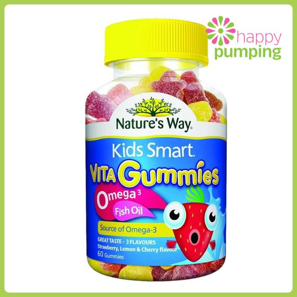 Nature 39 s way kids smart vita gummies omega 3 fish oil for Multivitamin with fish oil