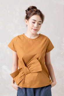 Sleeved Side Ribbon Top