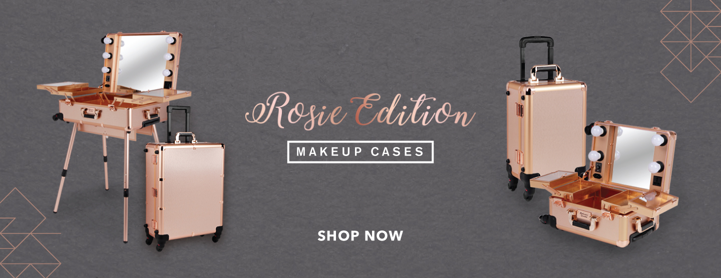 Rosie Gold Makeup Case