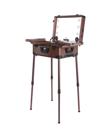 Stereo Makeup Studio in Brown Satin