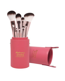 Soft Touch Tangerine Brush Set With Large Holder