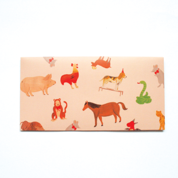 12 Chinese Zodiac Money Envelope in Red image