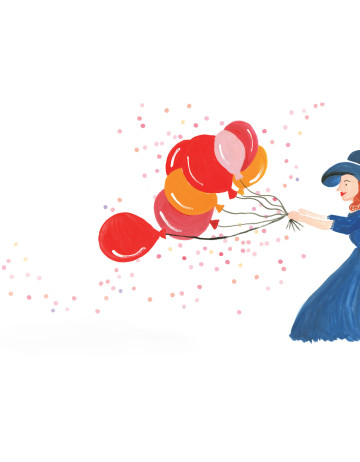 Birthday Baloons Girl image