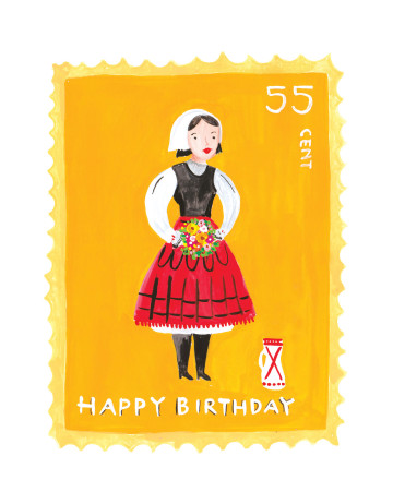 Vintage Stamp - Happy Brithday image