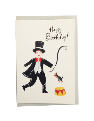 Dog Circus Happy Birthday Card image