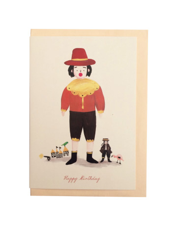 Colonial Birthday Card image