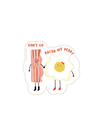 Bacon and Egg Cut-Out Card image