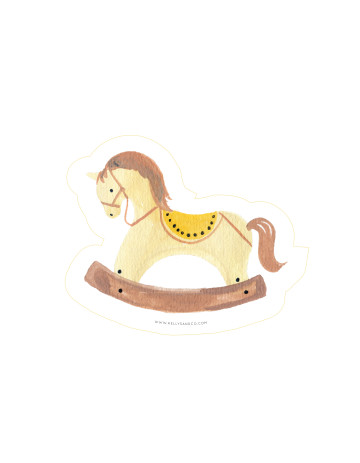 Rocking Horse Cut-Out Card image