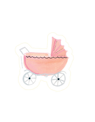 Baby Stroller Cut-Out Card image