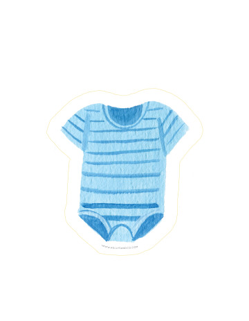 Baby Onesie Cut-Out Card image