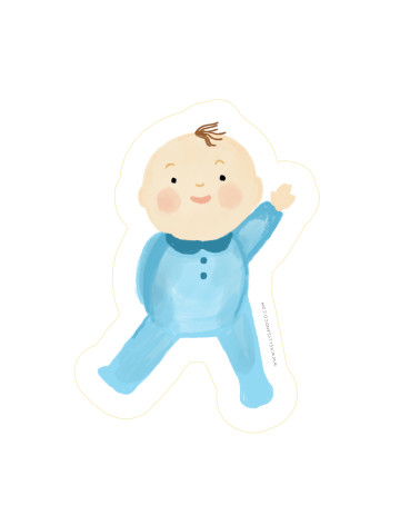 Baby Wave Cut-Out Card image