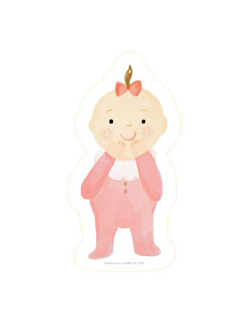 Baby Giggle Cut-Out Card image