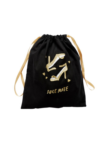 Sole Mate Embroidered Drawstring Pouch image
