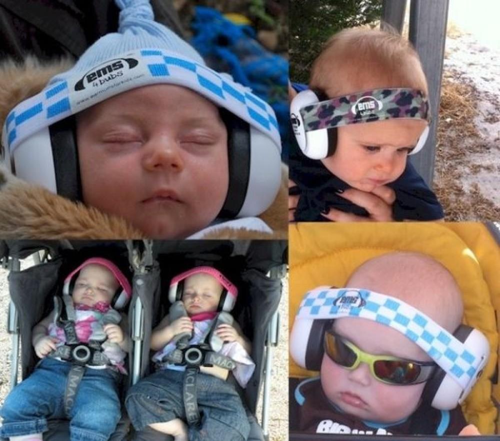 Ems For Bubs White Muff Adjustable Headband Lemon Floral Baby Earmuff