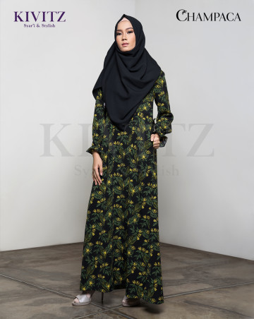 INOENG DRESS (Black Pattern) image