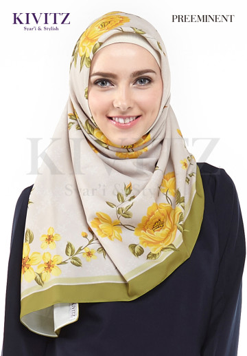MARJORIE SCARF (Floral-Yellow) image