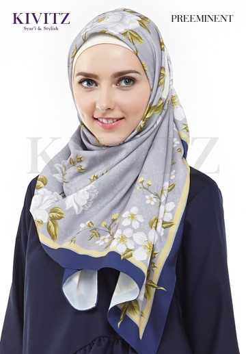 MARJORIE SCARF (Floral-White) image
