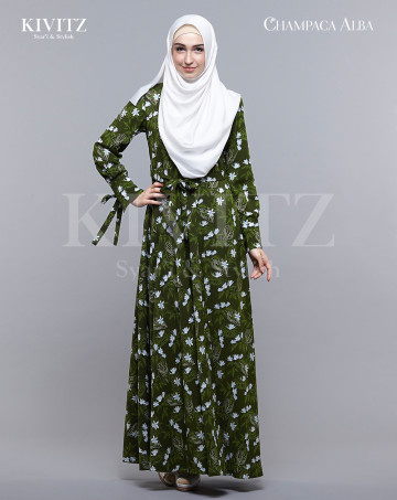 MAGNOLIA DRESS - (Green) image