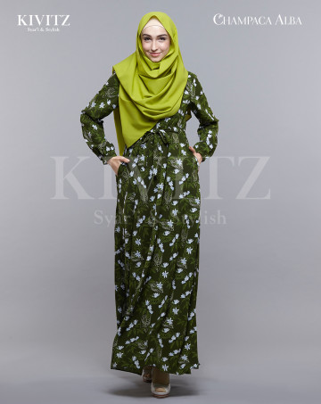 JEUMPA DRESS - (Green) image