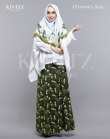 BAI LAN SKIRT - (Green) image