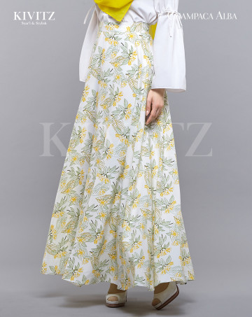 BAI LAN SKIRT - (Broken White) image