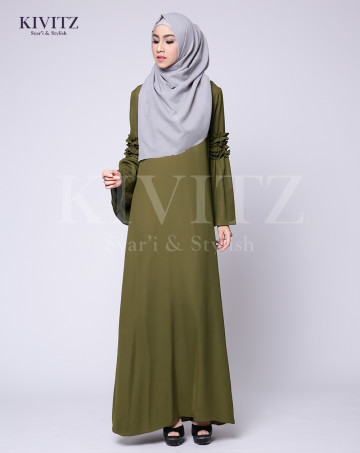 KENISHA DRESS (Olive Green) image