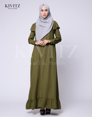 ALIQA DRESS (Olive Green) image
