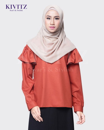 ALMA TOP (Rust Orange) image
