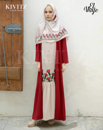 ALMERIA DRESS (Maroon) image