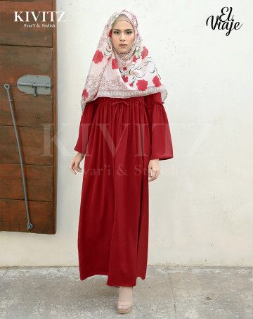 LINARES DRESS (Maroon) image