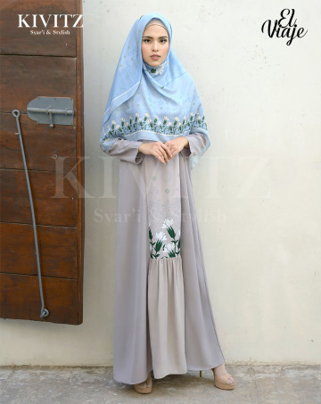 ALMERIA DRESS (Grey) image