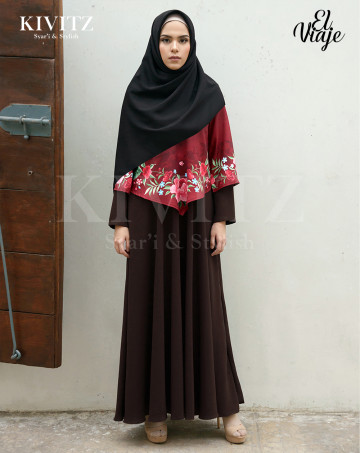 MELILLA DRESS (Brown) image