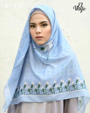 GRANADA LIMITED SCARF - Crepe (Blue) image