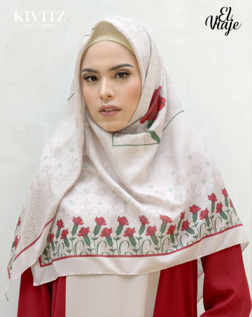 GRANADA LIMITED SCARF - Crepe (Beige) image