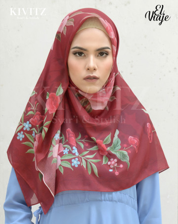 ALGRAVE LIMITED SCARF - CREPE / (Maroon) image