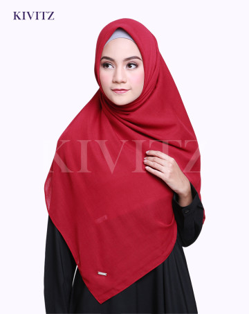 VOAL PLAIN SCARF (Maroon) image
