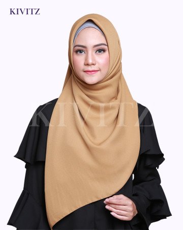 LAYYA SQUARE SCARF (Sand Brown) image